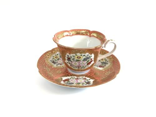錦緋色 ベルサイユ コーヒー碗皿