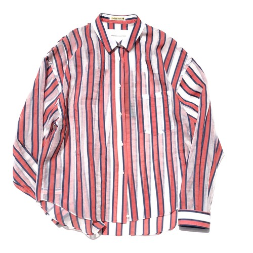Yutori shirts/BLUE-RED