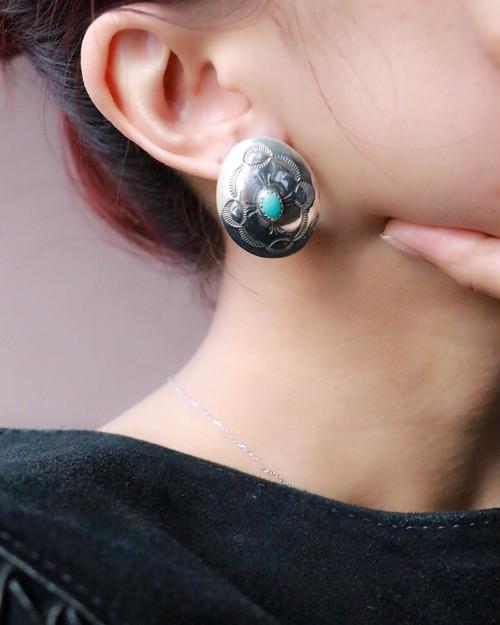 silver 925 turquoise earrings