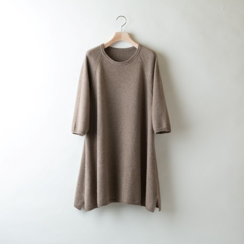 A-LINE TUNIC PULLOVER (Brown)  PCW0001