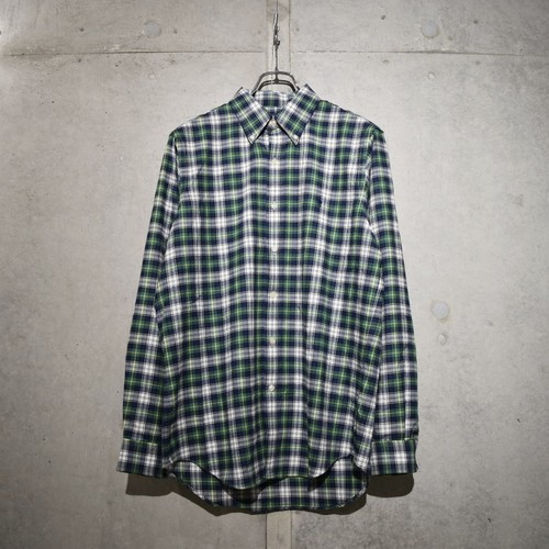 POLO RALPH LAUREN CLASSIC FIT CHECK SHIRT / BLUE x GREEN