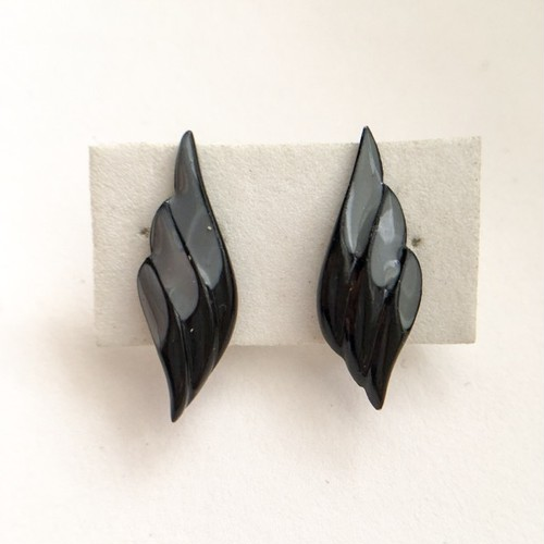 black wing earring[e-666]