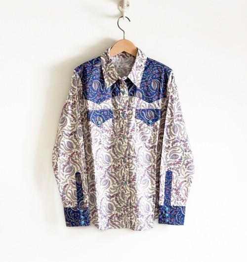 C52454  Westernshirt 【PeacefulBloom】