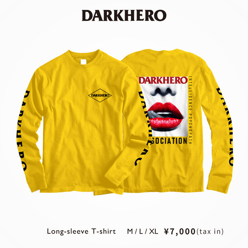 DARKHERO Long T-Shirt 【Yellow】