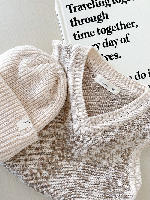 【即納】knit vest   the lala(ニットベスト)