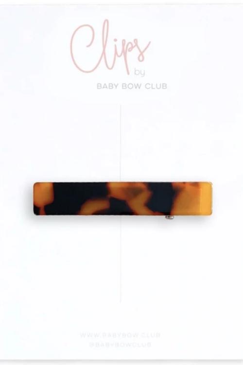 BABY BOW CLUB Bar Clip // Tortoise