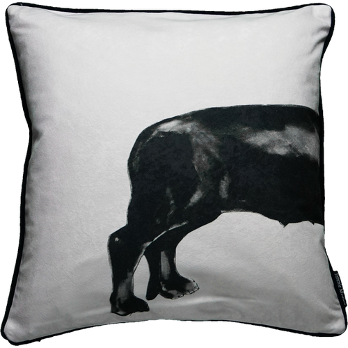 Jimmie Martin Cushions Grey sausage dog [BACK]