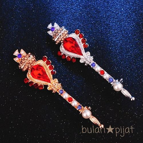 レガリア ブローチ イギリス三種の神器イメージ ワンドブローチ 魔法の杖ブローチ