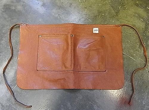 PURNARI work leather apron 【PU10-A1200】 プルナリ ワーク レザーエプロン
