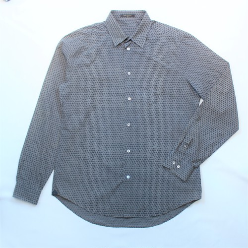 .LOUIS VUITTON PATTERNED ALL OVER LONG SLEEVE SHIRT MADE IN ITALY/ルイヴィトン総柄長袖シャツ 2000000033730