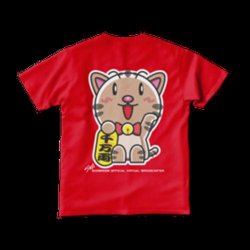 <レッドTシャツ 背面>まねきみーちゃん