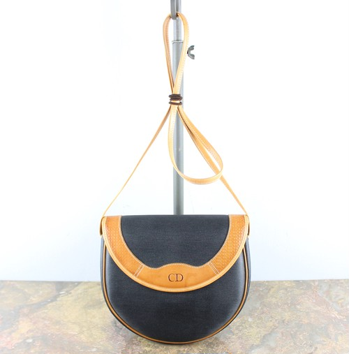 .Christian Dior LOGO SHOULDER BAG MADE IN FRANCE/クリスチャンディオールロゴショルダーバッグ 2000000046754