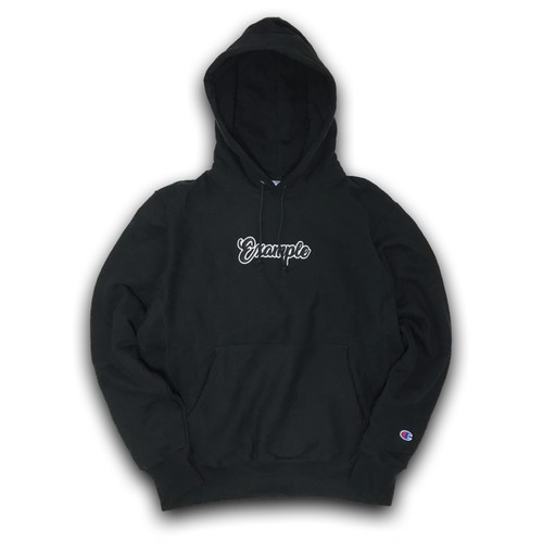 COMPLACENCE EXAMPLE LABEL HOODIE(12oz) /BLACKxBLACK