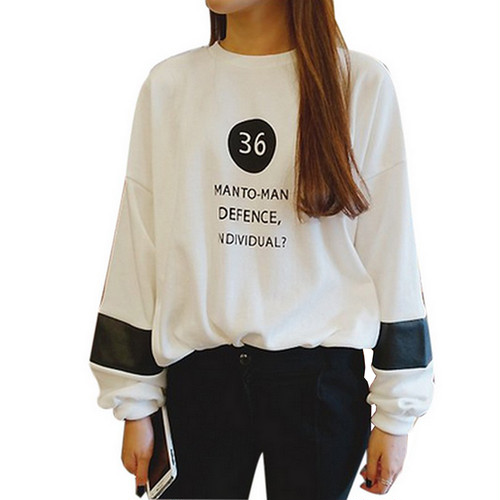 Round Neck Long Sleeve Sweatshirt 111