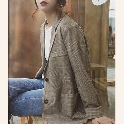 Glen check Jacket 送料無料