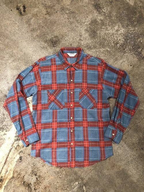 FIVE BROTHER Print Flannel Shirt