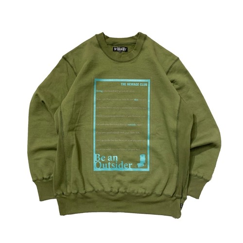 NEWAGE x WHIMSY / BTO CREWNECK SWEATER -OLIVE-