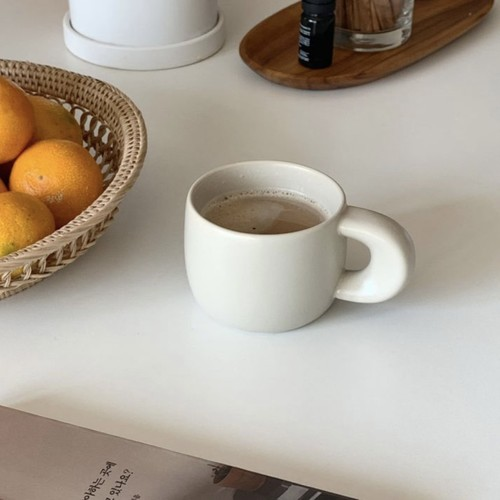home cafe mug. 3colors 220ml / ぽってり マグカップ コップ カフェ 韓国 北欧 雑貨