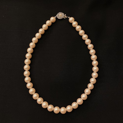 Pearl Necklace #01 -Light Pink White-