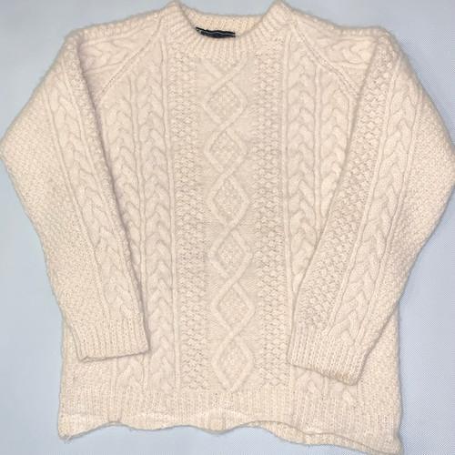 アランニット セーターMade in IRELAND*アイルランド製*Hand knit*used