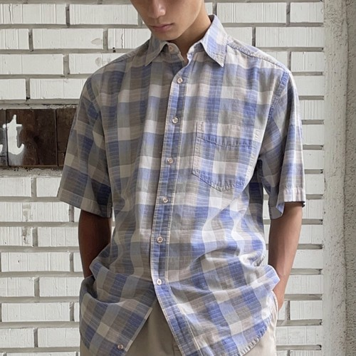 USED CHECK COTTON S/S SHIRT