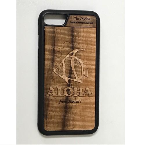 ハワイ産 スマホケース 【 Ho Aloha 】 ハワイアン コアウッド アイフォンケース【 フィッシュ】