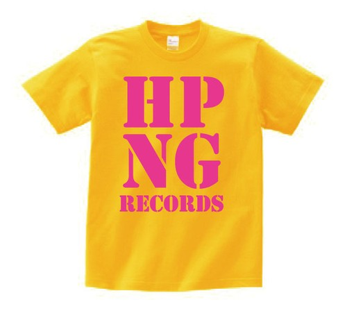 HOPPING RECORDS OFFICIAL T-SHIRT(イエローボディー)