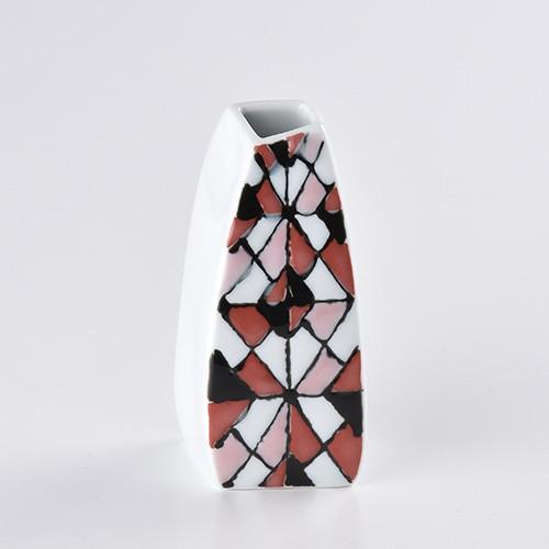 ステンドグラス 花瓶(赤)