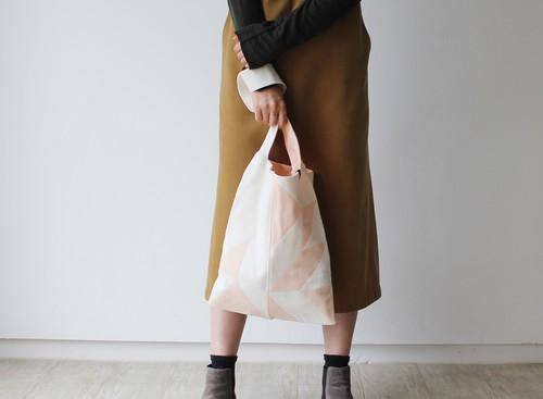 % PERCENT バッグ(ホワイト・ライトピンク)トートバッグ・ショルダーバッグ・ニットバッグ
