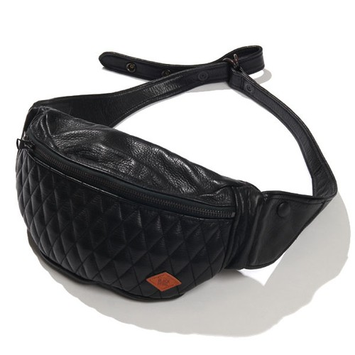 OUTSIDERS LEATHER WAIST BAG / RUDE GALLERY BLACK REBEL