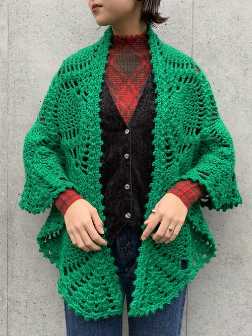 (TOYO) low gauge knit cape