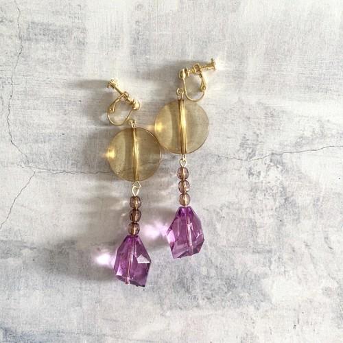 pierce or earring / 手染めビーズのアクセサリー
