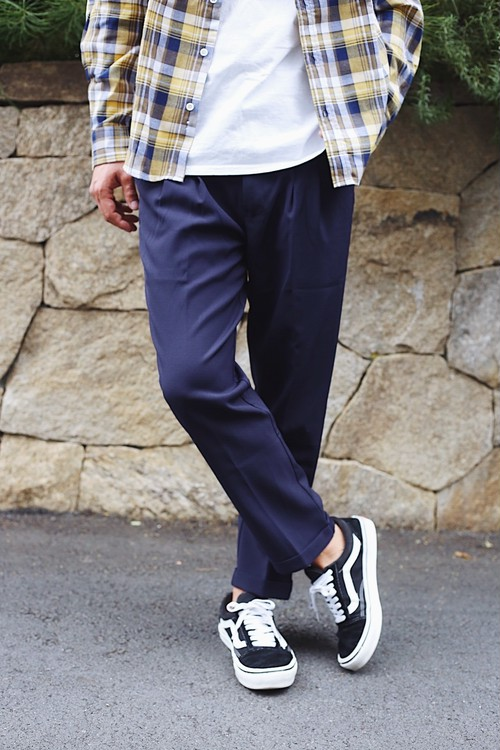 Ankle Easy Pants(Navy)