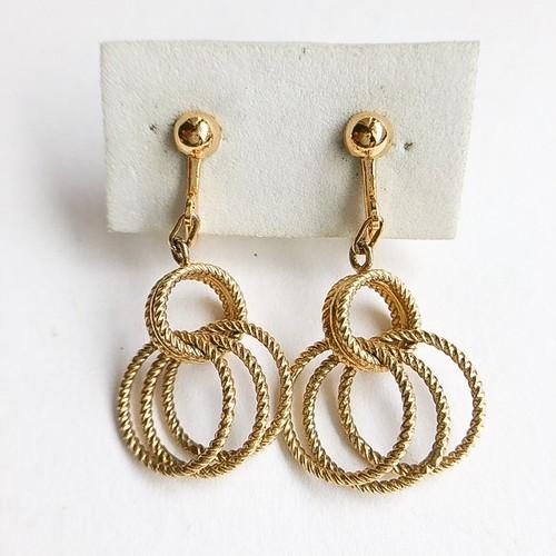 gold circle earring[e-1006]