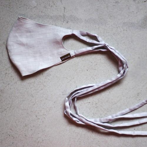 2層リネンシルクマスク ロングリボンタイプ /カラー:グレー【bionatural】
