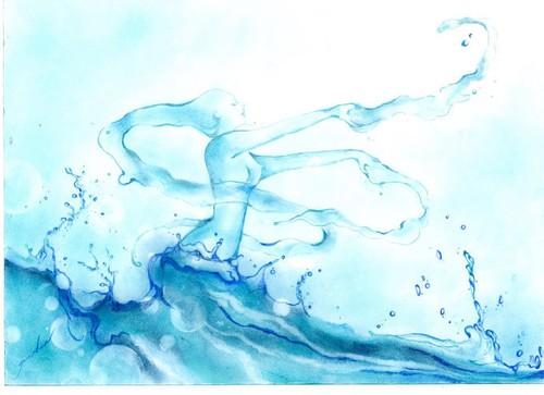 複製原画「水の妖精」