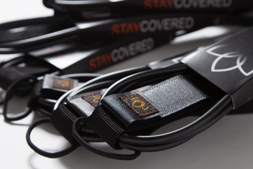 [STAY COVERED] リーシュ 9ft ANKLE STANDARD mat black