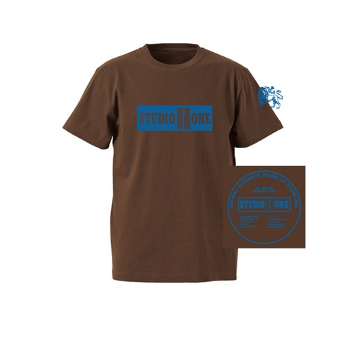 【Or Glory】 STUDIO ONE ジャマイカ SKA Tシャツ 〈Brown〉