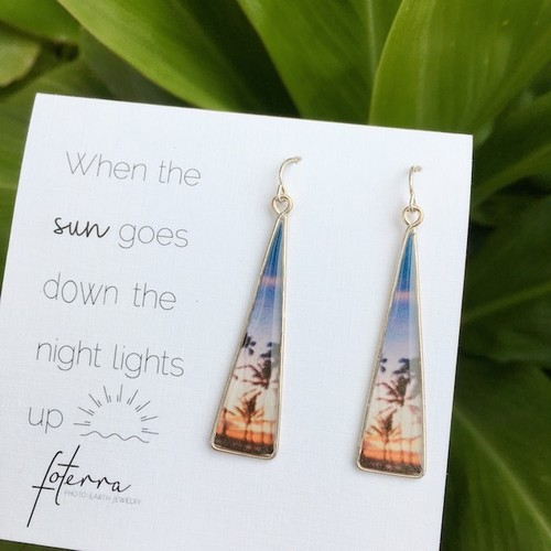 【foterra】When the sun gose down the night lights up ピアス(SS)
