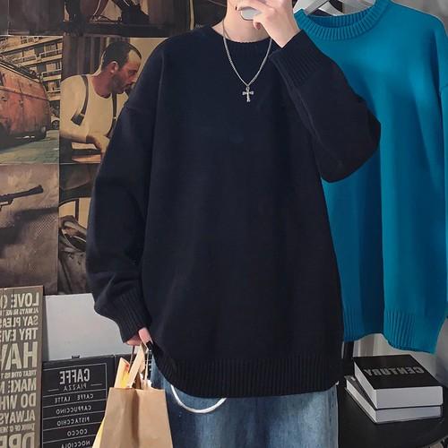クルーネックニットセーター #BL7247