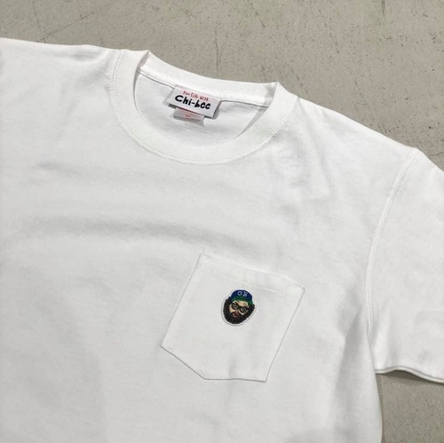 chi-bee - one point Pocket Tシャツ - ホワイト