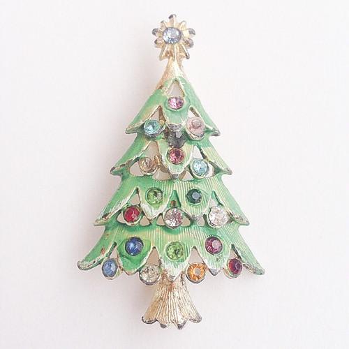 christmas tree brooch[b-126]