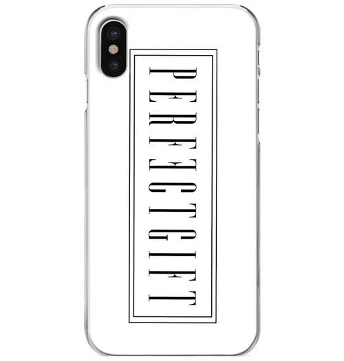 iPhoneケース [LOGO] /White