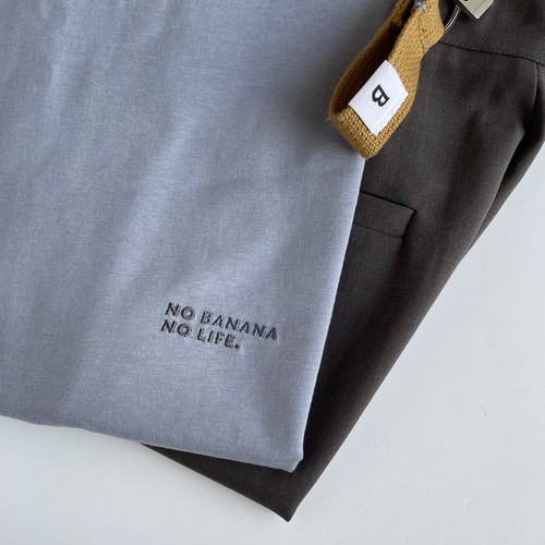 NO BANANA NO LIFE.Tシャツ/くすみブルー