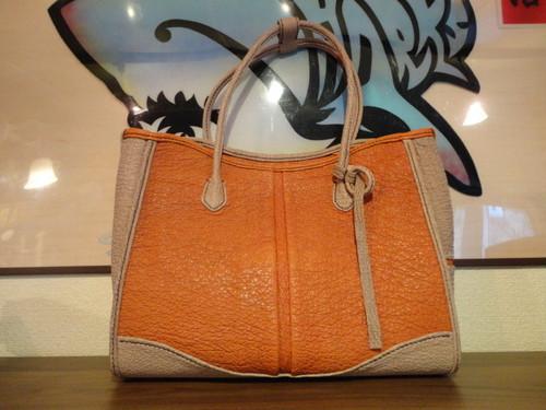世界で一つ☆サメ革オリジナルバッグ・全て手縫いの素敵バッグ