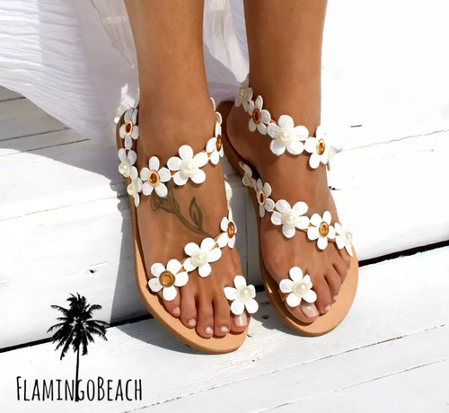 【FlamingoBeach】flower sandals サンダル