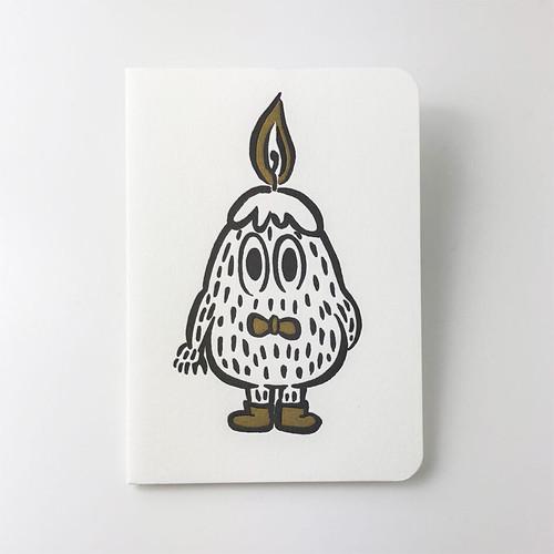 活版印刷のバースデイカード  /  ろうそく:タダユキヒロ