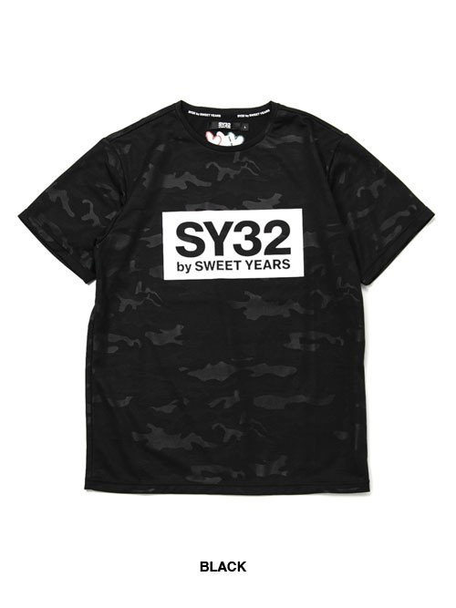 SY32 【REGULAR】EMBOSS CAMO BOX LOGO TEE(6640)