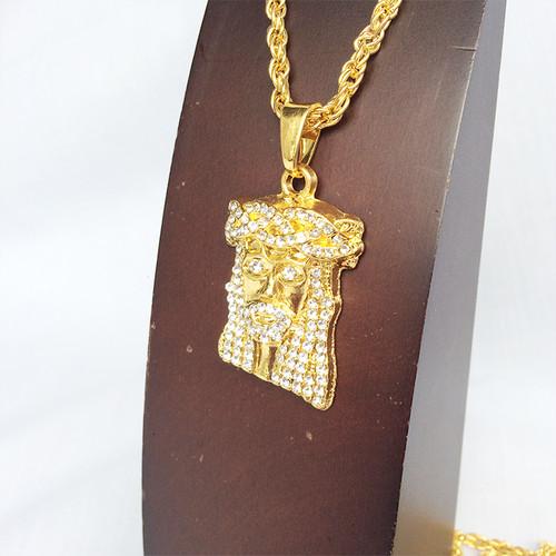 ジーザス ジルコニア GOLD ゴールド 金 ネックレス ヒップホップ HIPHOP 1112