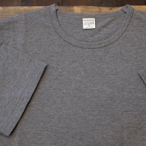 Workers(ワーカーズ) 別注 3PLYスリム ポケットTシャツ グレー